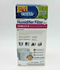 BestAir H62 Replacement Humidifier Filter With Chlora-Clear New Sunbeam 2 Pack
