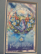 Beautiful Alaska Forget Me Not Butterfly Mailable Frameable 5x7 print by Bergsma