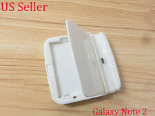 White Desktop Cradle Sync Battery Charger Dock for Samsung Galaxy Note 2 N7100