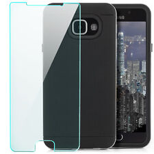 Coque Silicone Samsung Galaxy A3 2016 Housse Back Cover anti-choc + Verre Trempé