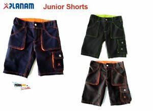 Planam Kinder Arbeitshose kurz Basalt Junior Shorts Arbeitsbekleidung jetzt Neu