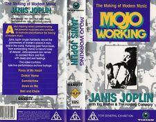 JANIS JOPLIN - MOJO WORKING - VHS - PAL - NEW -Never played -Original Oz release