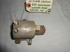 1965 DODGE CUSTOM 880 STATION WAGON WINDSHIELD WIPER WASHER PUMP, ORGINAL PART