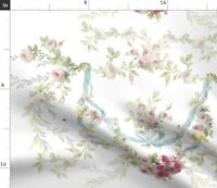Flowers Roses Rococo Vintage Inspired Shabby Chic Spoonflower Fabric by the Yard