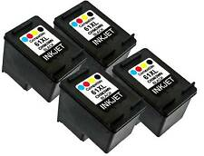 4PK For HP 61XL HP61XL CH563WN Black New Gen Deskjet 2546 2547 2549 3000 3050