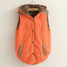 Women Ladies Faux Fur Vest Waistcoat Jacket Coat Winter Hooded Gilet Outwear Top
