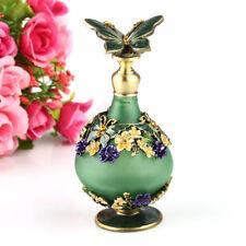 Antique Empty Butterfly Crystal Metal Art Deco Perfume Bottle Wedding Gift 23ml