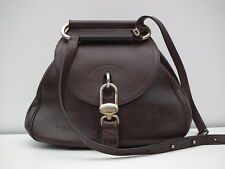 DELVAUX * Adorable brown leather cross-body / shoulder bag / purse