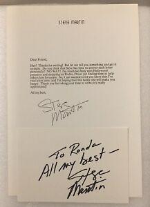 Steve Martin Signed Letter and Card Famed Comic Actor