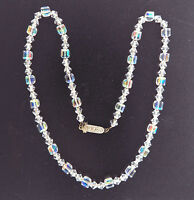 """Vintage Crystal Glass Bead  Necklace 6mm 19.5"""""""