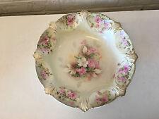 Antique RS Prussia Porcelain Centerpiece Bowl w/ Painted Flowers Decoration