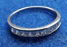 Ladies Sterling Silver & CZ Stone Ring By Elanza - UK Size T