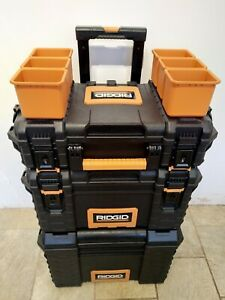 1 x Ridgid (54358) Trolley With A Fixed Deep Toolbox + 2 Removable Toolboxes