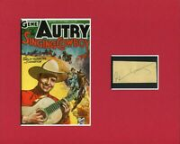 Gene Autry The Singing Cowboy Rare Western Signed Autograph Photo Display
