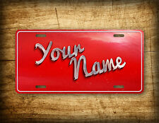 Retro Personalized Text License Plate Vintage Antique Customized Name Auto Tag
