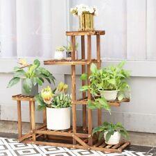 Pflanzenständer Holz Blumen Regal Treppe Podest Etagere für Blumen Leiter Treppe