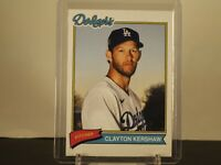 2020 TOPPS X SUPER 70s SPORTS BASE CARD LOS ANGELES DODGERS CLAYTON KERSHAW #81