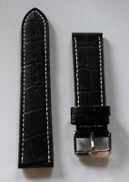 Neu hochwertiges Elysee Uhrenband Uhrenarmband Leder braun 22mm E80