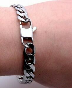 Titanium Chunky Bracelet - 10 mm Width - Silver