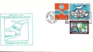 Foreign Flag Airmail Flight New York (UN) - Prague May 7 1970 AAMC#OK-3u