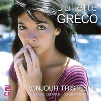 JULIETTE GRECO - BONJOUR TRISTESSE-50 GROßE ERFOLGE  2 CD NEU