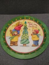 Christmas Bear Serving Plate