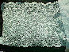 Spitzenborte Raschelspitze elastisch HELLBLAU 18cm Lace Dentelle Encaje шнурок