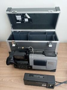 Panasonic AG-450 S-VHS Video Camera With AG-B3A AV Power Adapter and AG-HT5 Case