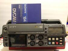SONY DSR-50 PORTABLE DIGITAL VIDEOCASSETTE RECORDER MINI DV DVCAM & POWER SUPPLY