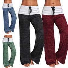 Womens Boho Pants Palazzo Summer Beach Wide Leg Yoga Baggy Harem Trousers K056