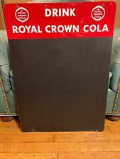 Rare Original Porcelain Royal Crown Cola Advertising Sign Menu Board