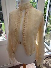 Vintage Victorian / Edwardian era wedding / evening jacket with bobbin lace