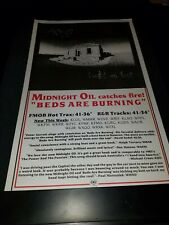 Midnight Oil Beds Are Burning Rare Original Radio Promo Poster Ad Framed!