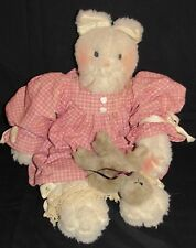Collectible Homemade Primitive Country Cat with Mouse Doll Stuffed Animal