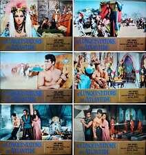 CONQUEROR OF ATLANTIS Italian fotobusta movie posters x6 KIRK MORRIS 1965 PEPLUM