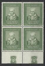 ITALY 1961 ROMAGNOSI BICENT 30L BLOCK MINT