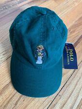 Polo Ralph Lauren Teddy Bear Unisex Kids Baseball Cap Hat in Green One Size 8-20