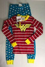 ❤ JUSTICE LEAGUE HANNA ANDERSSON girls Wonder Woman Pajamas NEW 120  6-7