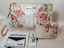 ❤️ BRAHMIN Multi Salinger Daisy Wristlet + Travel Zip Around Wallet  2 Pc NWT ❤️