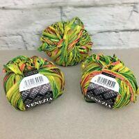 Venezia ribbon yarn Italy 2+ skeins green coral filatura di crosa