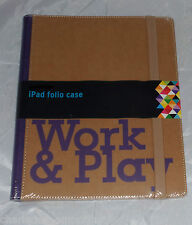 Folio Estuche Cubierta Protectora iPad Apple tan & Purple trabajar y jugar nuevo