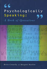 Psychologically Speaking: A Book of Quotations-ExLibrary