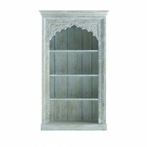 Handmade Wooden Carved Bookcase