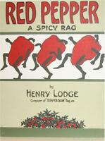 Red Pepper A Spicy Rag Sheet Music Cover Fine Art Lithograph S2