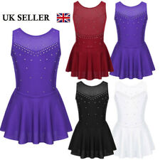 UK Girls Ballet Dance Dress Sparkly Leotard Gymnastics Skirt Dancewear Costume