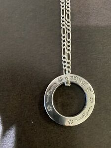 Bvlgari Sterling Silver Children Circle Pendant