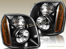 07-14 GMC Yukon/Yukon XL 1500 2500 Hybrid Replacement Black Clear Headlights
