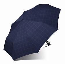 Esprit Parapluie Gents Mini Tecmatic Check Blue