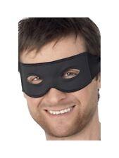 Herren Zorro Augenmaske Schwarz Banditen Maske mit Krawatte Kostüm Zubehör