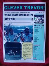 West Ham United 1 Arsenal 0 - 1980 FA Cup final - souvenir print